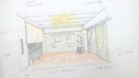 ロールスクリーン 和室 ピクチャーレール.jpg