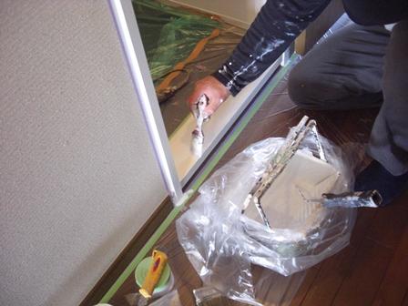 塗装 ポーターズ ドア枠.JPG