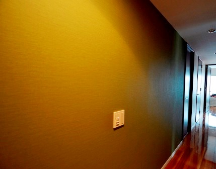 廊下 アクセントクロス モスグリーン 20150710.JPG