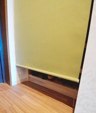 玄関 棚 ロールスクリーン マンション 20150428.JPG