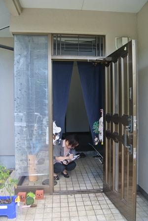 玄関ドア 戸建 リフォーム ビフォー.JPG