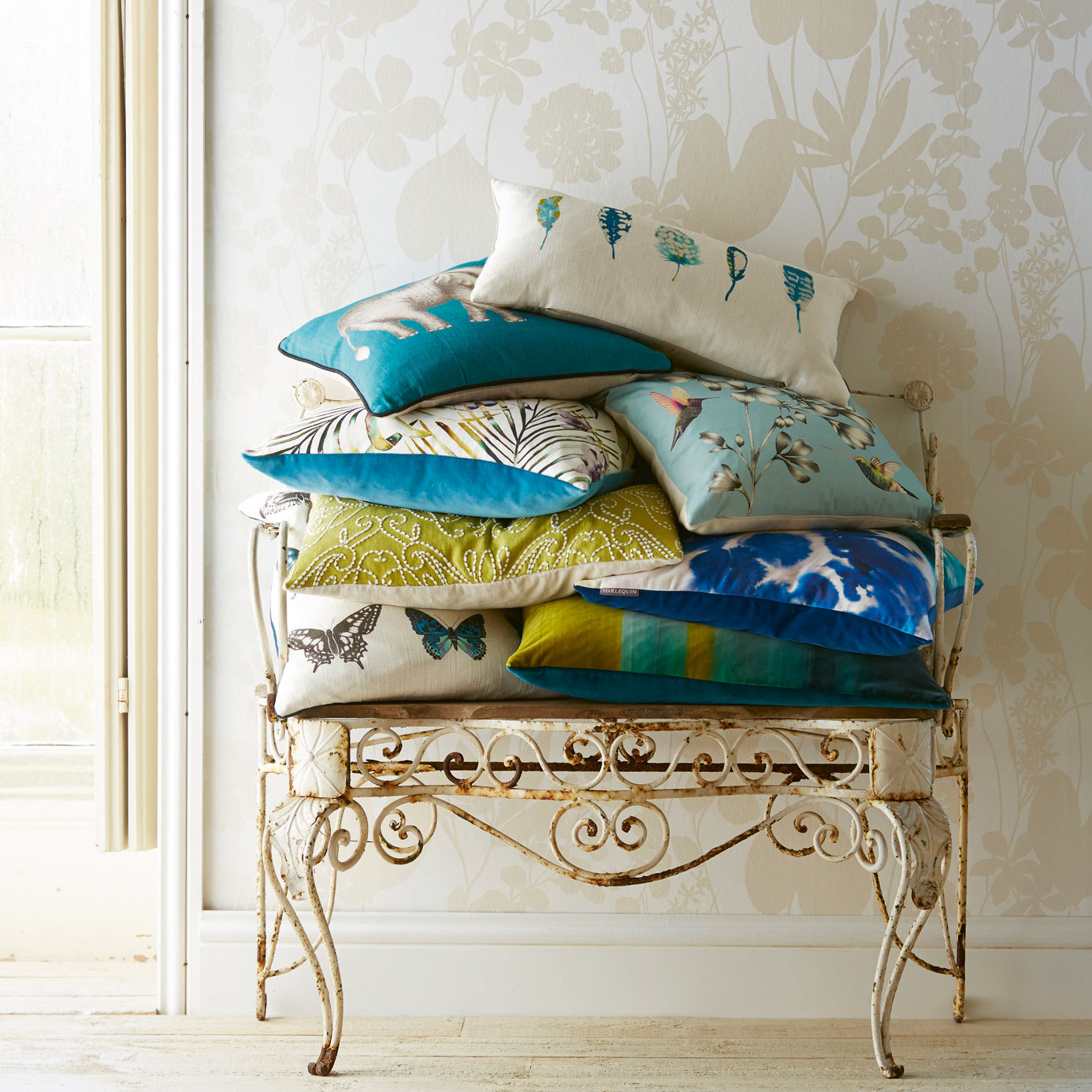 Harlequin-Amazilia-Cushions-blue-aqua-turquoise-butterflies-butterfly-feathers-elephant-03.jpg